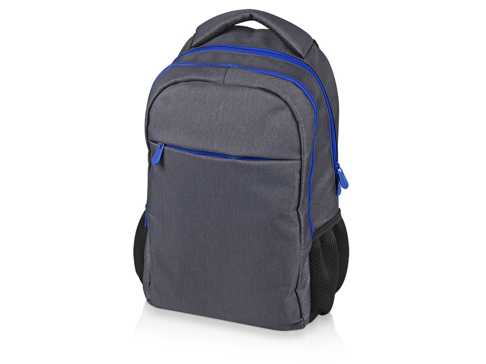 Рюкзак «Metropolitan», серый с синей молнией