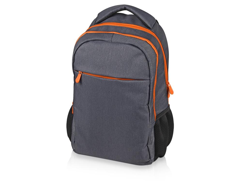 Рюкзак «Metropolitan», серый с оранжевой молнией