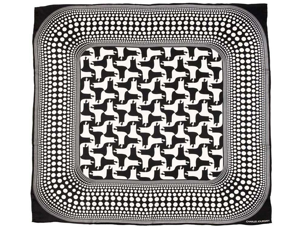 Платок шелковый Charles Jourdan модель «Shadows»