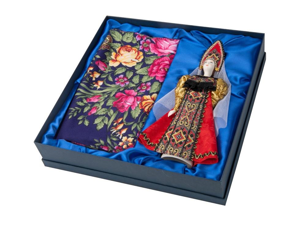 Набор: кукла в народном костюме, платок Катерина», красный