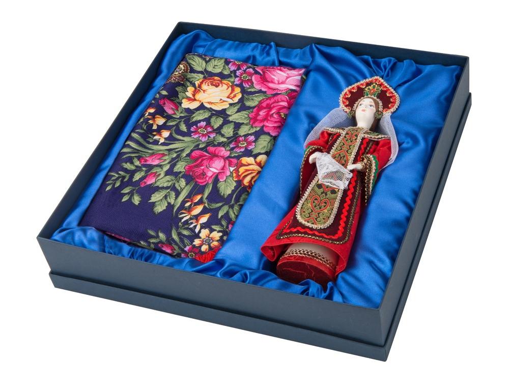 Набор: кукла в народном костюме, платок «Евдокия», красный