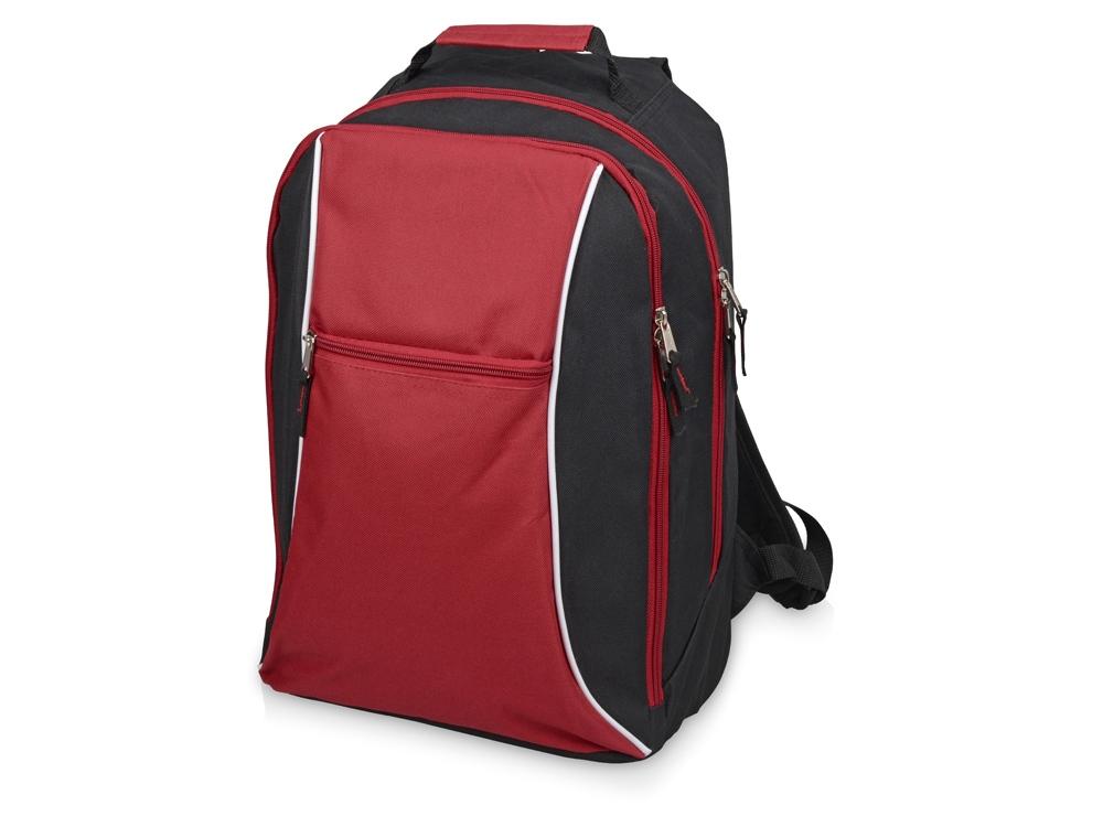 Рюкзак «Спорт», черный/красный
