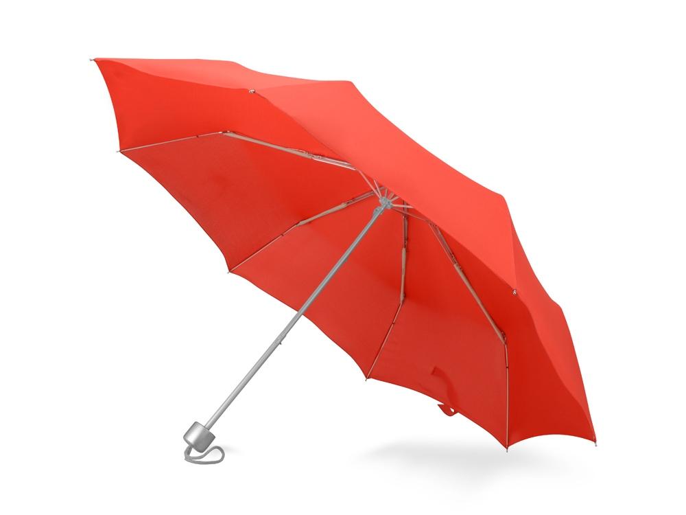 Зонт складной Tempe, механический, 3 сложения, с чехлом, красный