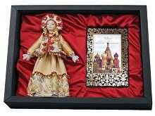 Подарочный набор «Только в России»: кукла декоративная, шоколадные конфеты «Конфаэль» (арт. 13511)