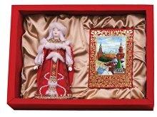 Подарочный набор «Конфетки, бараночки»: кукла декоративная, шоколадные конфеты «Конфаэль» (арт. 13512)