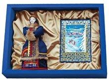 Подарочный набор «Зима в деревне»: кукла декоративная, шоколадные конфеты «Конфаэль» (арт. 13514)