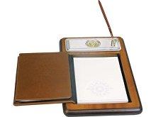 Подставка для бумажного блока с ручкой и телефонной книжкой «Голова льва» (арт. 62080)