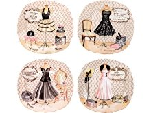 Набор  десертных тарелок «Высокая мода» (арт. 82183)