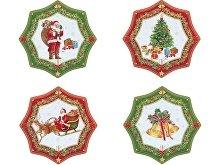Набор десертных тарелок «Рождественский» (арт. 82186)