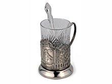 Набор «За Родину»: стакан с подстаканником и ложкой (арт. 82569)