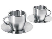 Набор: 2 чашки с термоизоляцией с блюдцами(арт. 827340)