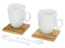 Набор: 2 чашки, 2 подставки, 2 ложки «Дуэт» (арт. 829806)