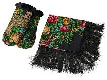 Подарочный набор: Павлопосадский платок, рукавицы (арт. 94728)