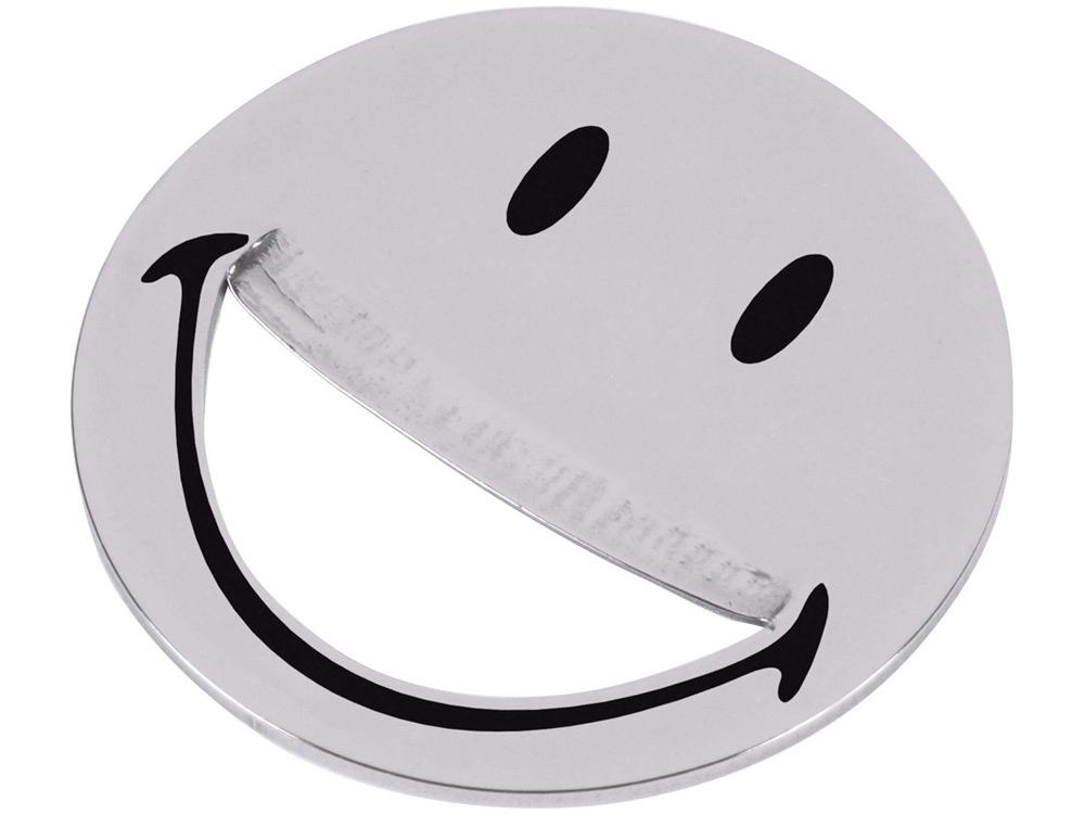 Открывалка Smiley, серебристый