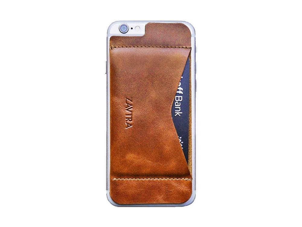 Кошелек-накладка на iPhone 6/6s, коричневый