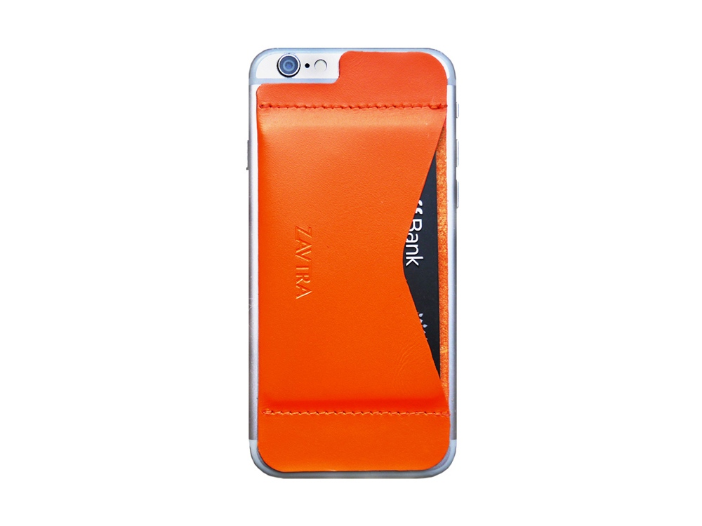 Кошелек-накладка на iPhone 6/6s, оранжевый