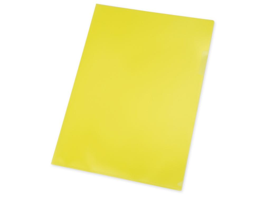 Папка- уголок А4, желтый