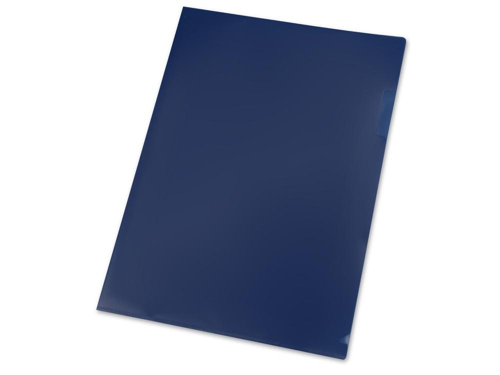 Папка- уголок А4, синий матовый
