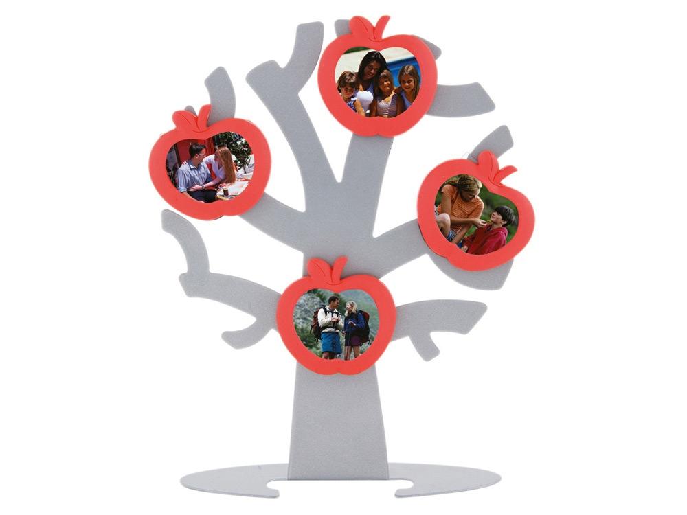 Генеалогическое дерево «Моя семья», серебристый/красный