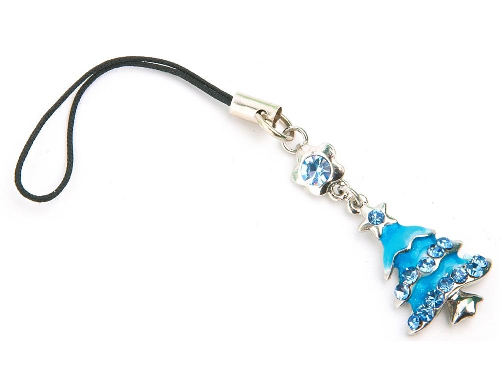 Подвеска для мобильного телефона, серебристый/голубой