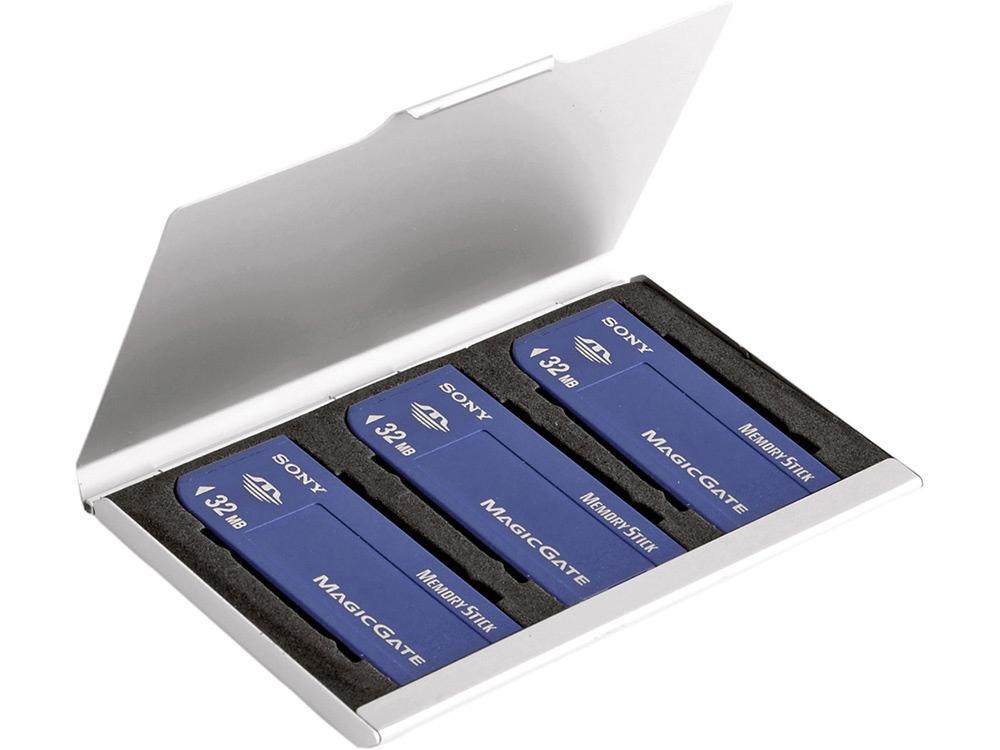Футляр для хранения карт памяти, серебристый