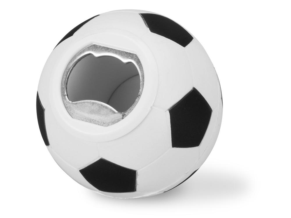 Открывалка «Футбольный мяч», черный/белый