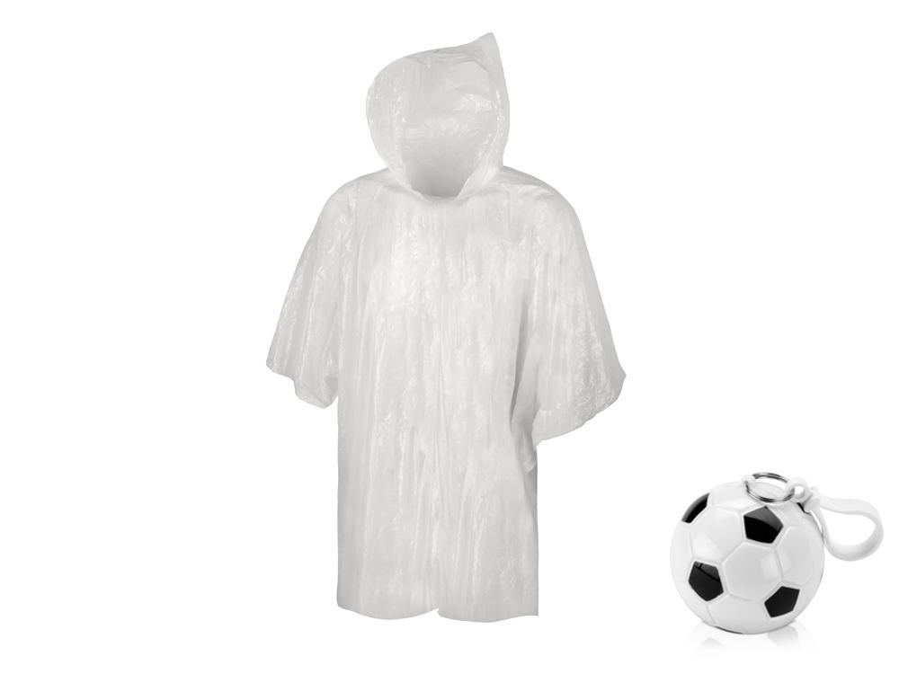 Дождевик «Футбольный мяч», черный/белый