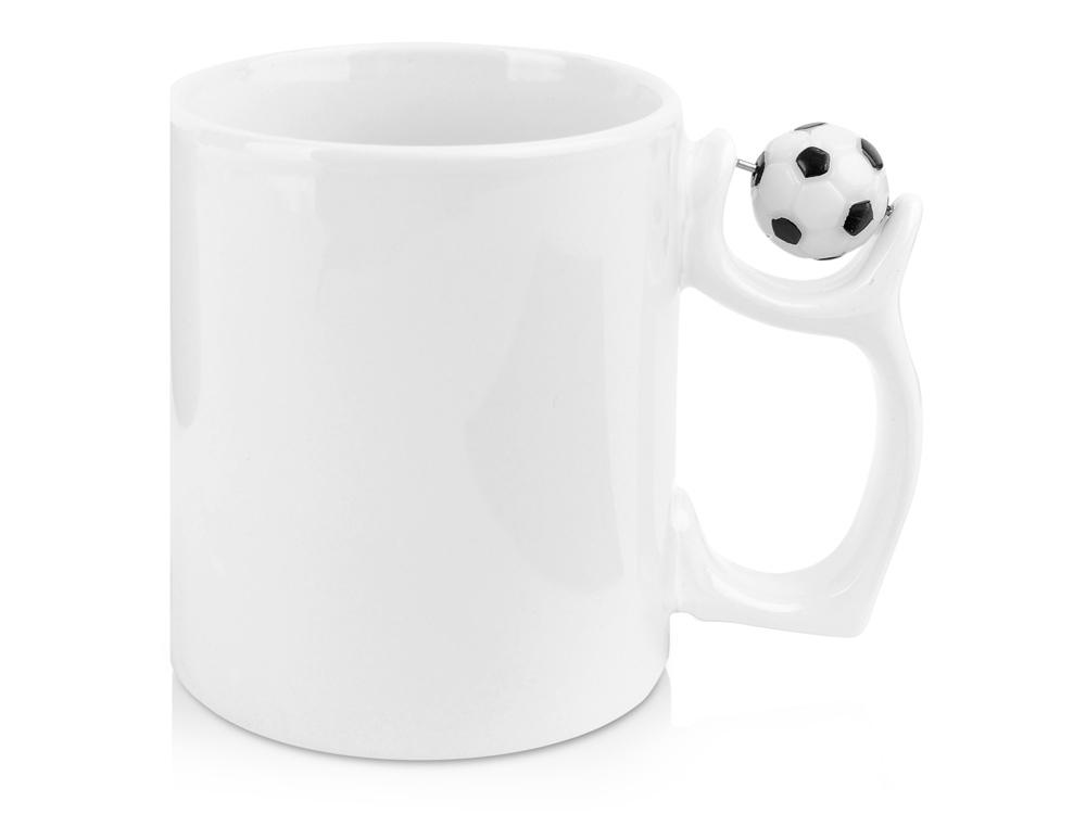 Кружка «Фанат футбола», белый/черный