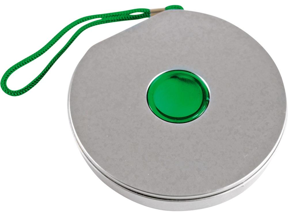 Футляр «Диск», зеленый/серебристый