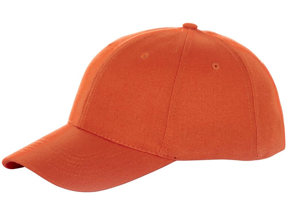 Бейсболка Bryson, 6 панелей, оранжевый