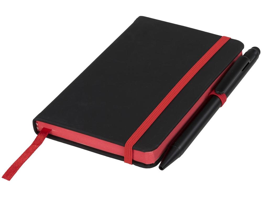 Маленький блокнот Noir Edge, черный/красный
