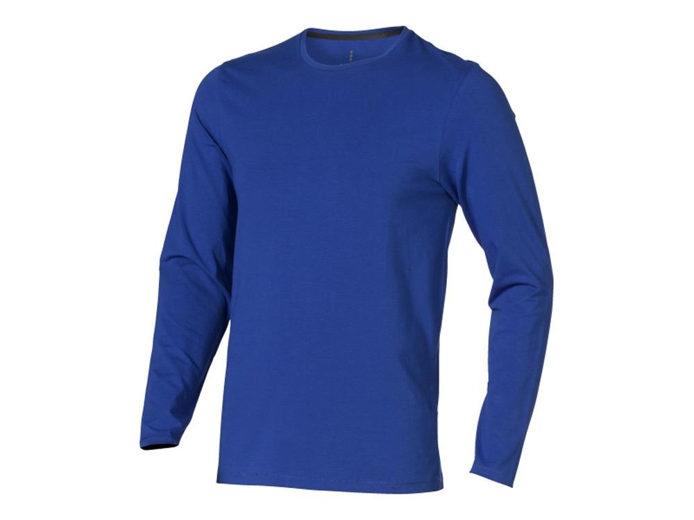 Футболка Ponoka  мужская с длинным  рукавом, синий