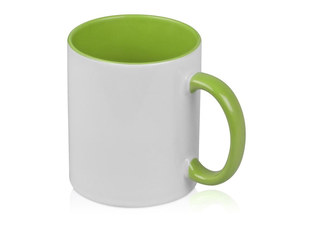 Кружка для сублимации Sublime Color, белый/зеленое яблоко