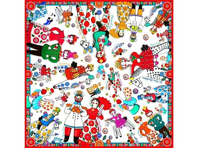 Платок «Дымковская игрушка» (арт. 94904)