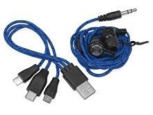 Набор «In motion» с наушниками и зарядным кабелем 3 в 1 (арт. 700902), фото 4