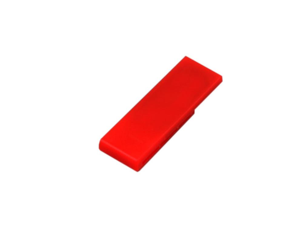 Флешка промо в виде скрепки, 64 Гб, красный