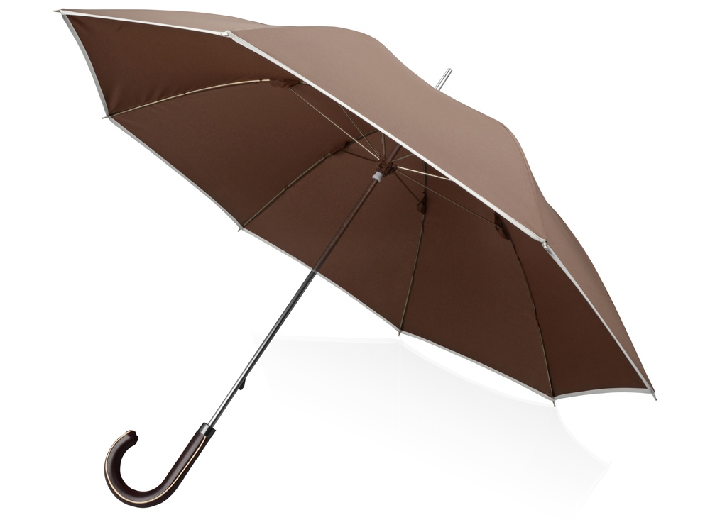 Зонт трость Ривер, механический 23, коричневый