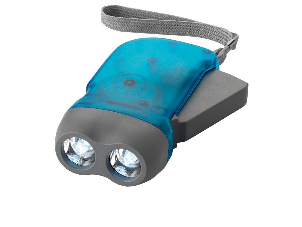 Фонарь Virgo с механической подзарядкой, синий