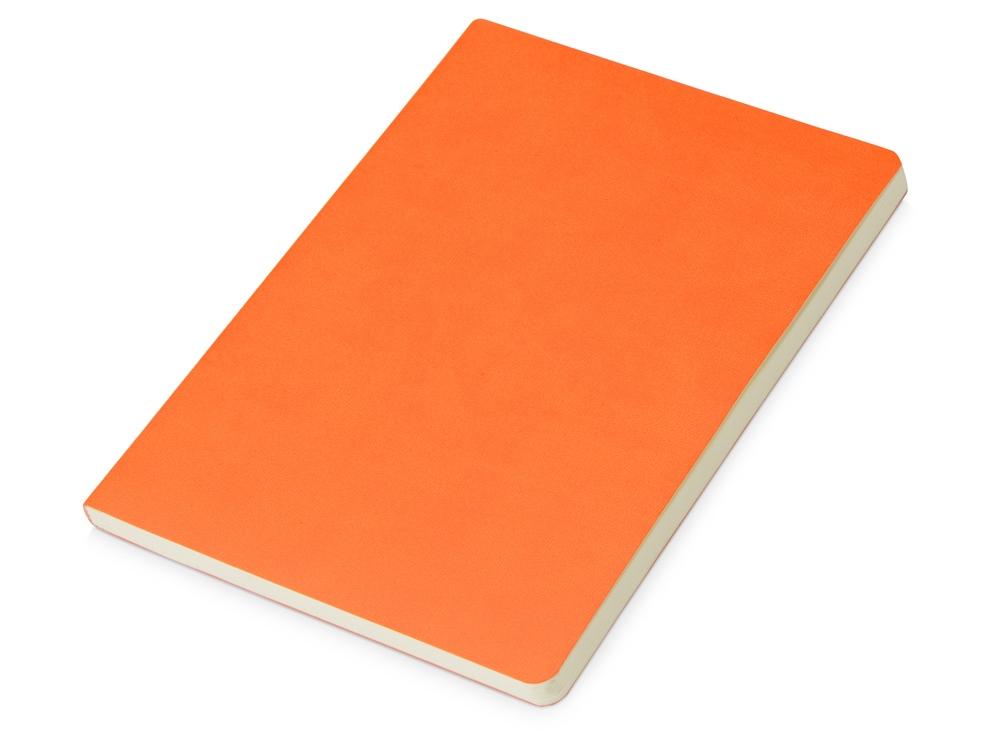 Блокнот Wispy линованный в мягкой обложке, оранжевый