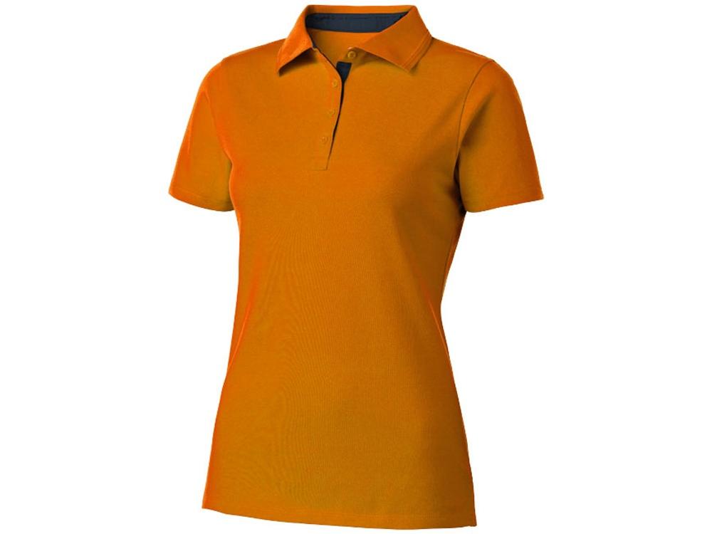 Поло женское с короткими рукавами Hacker, оранжевый/темно-синий