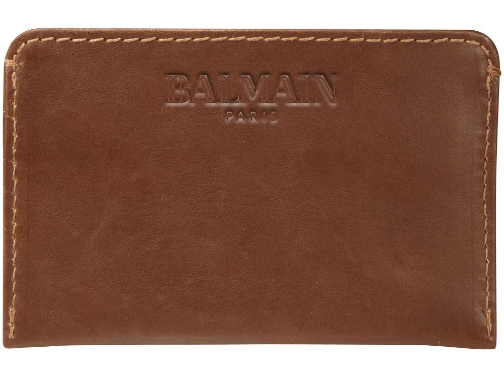 Кожаный чехол для карт, коричневый
