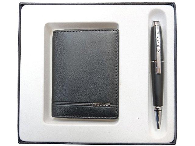 Набор «Classic Century»: обложка для кредитных и визитных карт, ручка-роллер (арт. 421173)