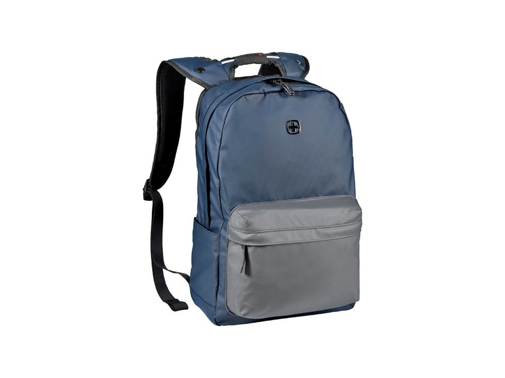 Рюкзак WENGER 18 л с отделением для ноутбука 14'' и с водоотталкивающим покрытием, синий/серый