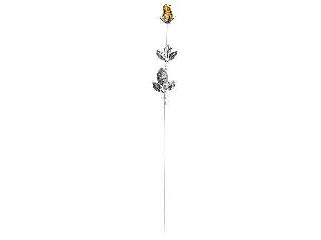 Роза с золотым бутоном (арт. 50142)