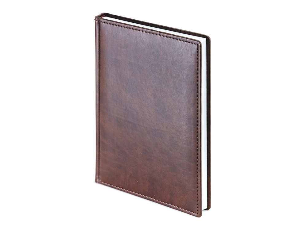 Ежедневник А5 датированный Velvet 2020, коричневый