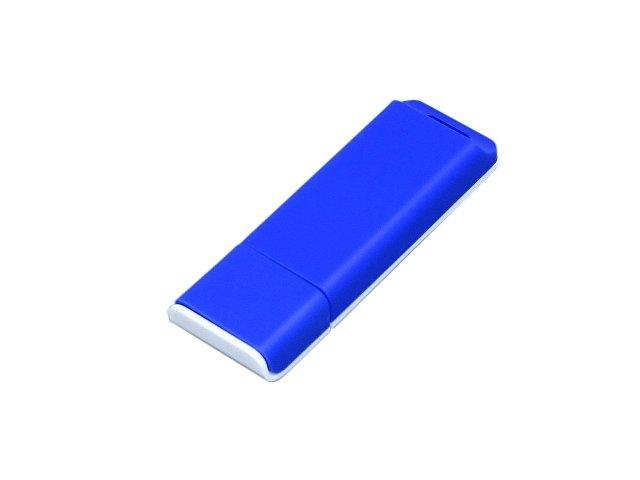 Флешка прямоугольной формы, оригинальный дизайн, двухцветный корпус, 32 Гб, синий/белый