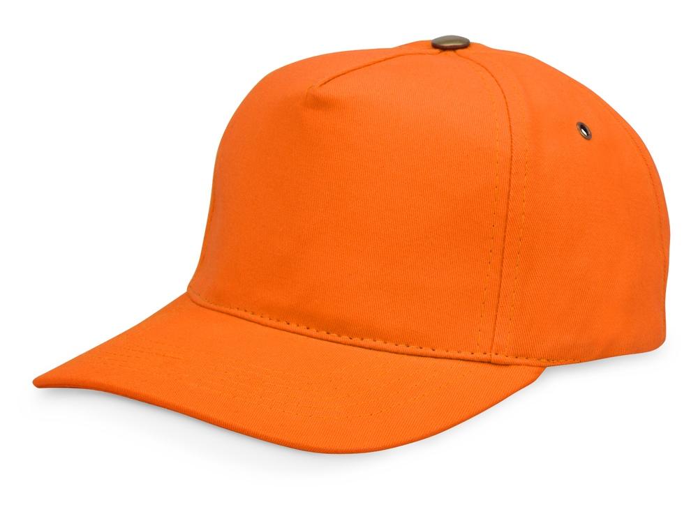 Бейсболка New York  5-ти панельная  с металлической застежкой и фурнитурой, оранжевый