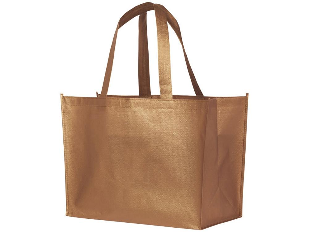Ламинированная сумка-шоппер Alloy, медно-красный