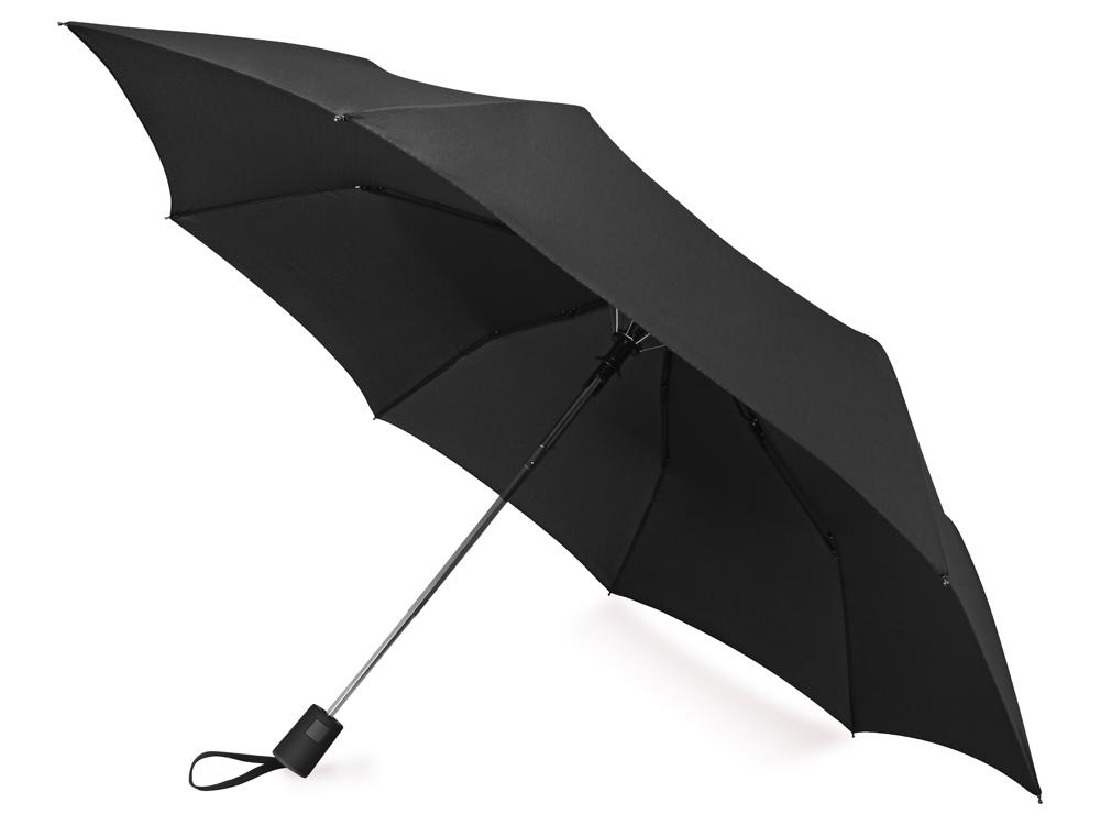 Зонт складной Irvine, полуавтоматический, 3 сложения, с чехлом, черный