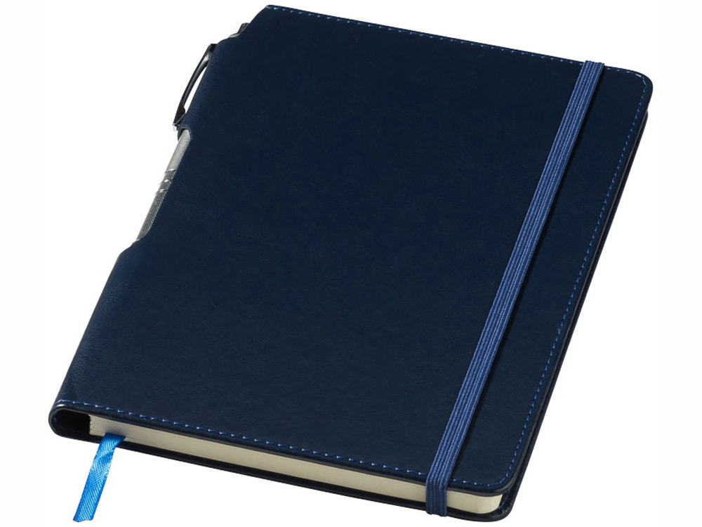Блокнот А5 Panama с ручкой, синий